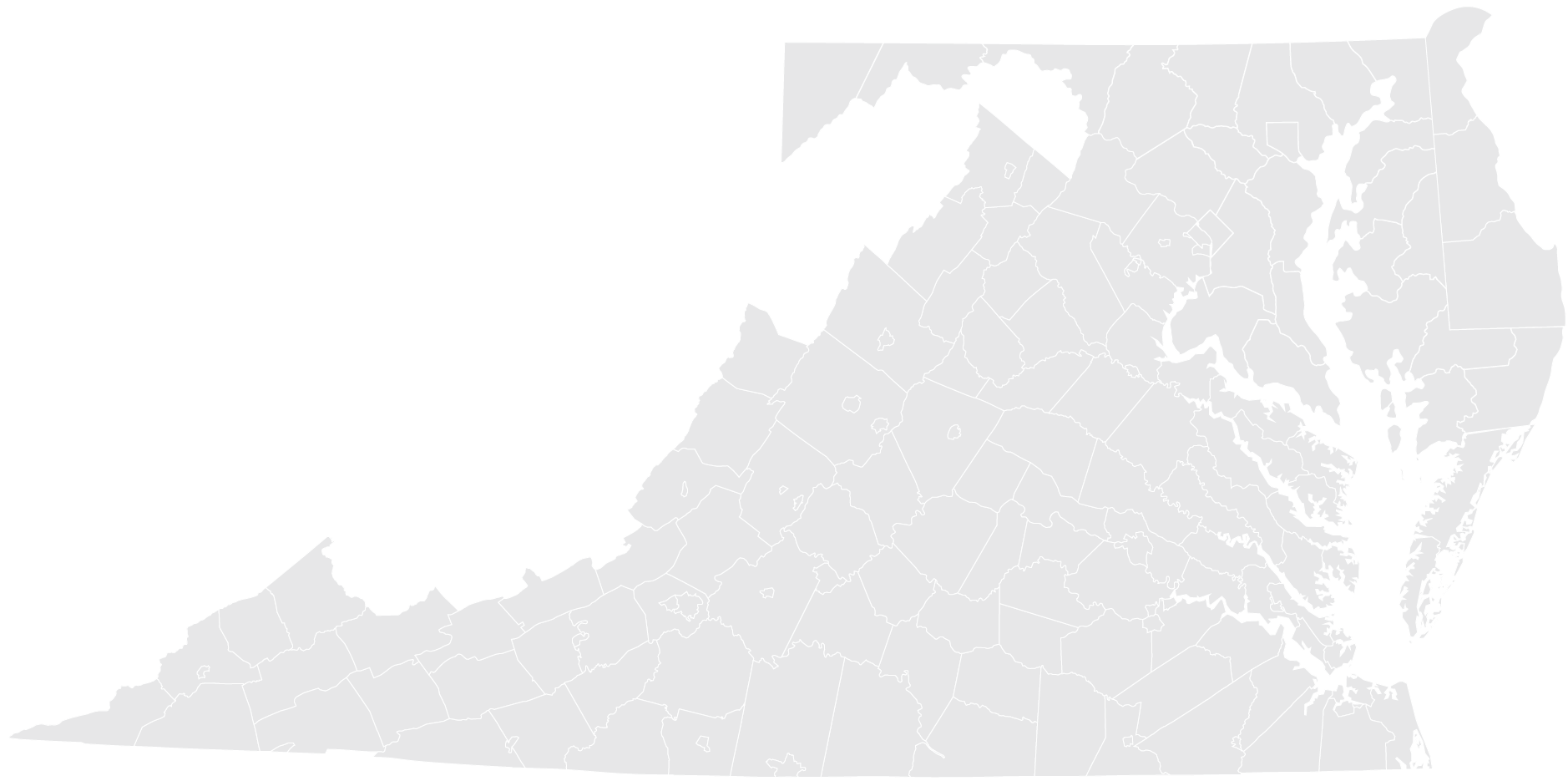 Map of Virginia Cooperatives