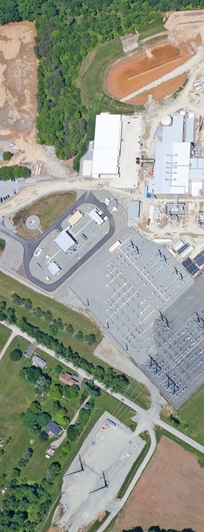 overhead view of wildcat point generation facility