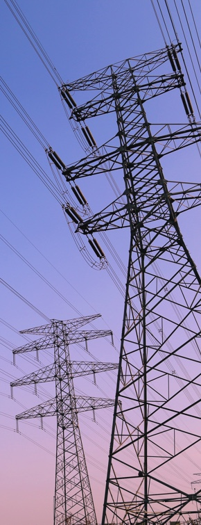 sunset transmission line image